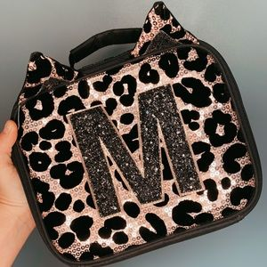 Justice Leopard Print Lunch Box (Letter M)